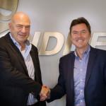 Directiewisseling Ridder Data Systems met Henri Nugteren (l) en Gino Keijzer (r)