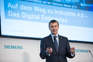 Pressekonferenz - Siemens auf der Hannover Messe 2015 / Press conference - Siemens at the Hannover Messe 2015