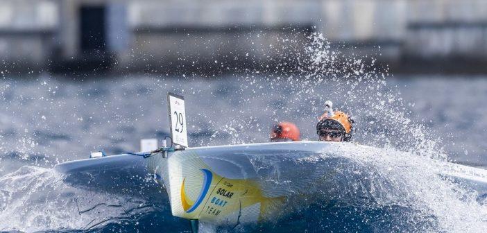 TU Delft Solar Boat Team denkt met 'haaienhuid' te winnen van 'Twente' en Sunflare