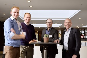 From left to right, Vincent Theunynck (Vintecc), Lucas Koorneef (MI-Partners), Tim Pattenden (Tessella) and Marcel Stakenborg (MathWorks Benelux).