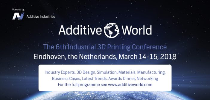 6e editie van Additive World Conference op 14 en 15 maart op de High Tech Campus